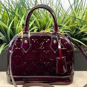 Authenticated Louis Vuitton Alma BB Amarante